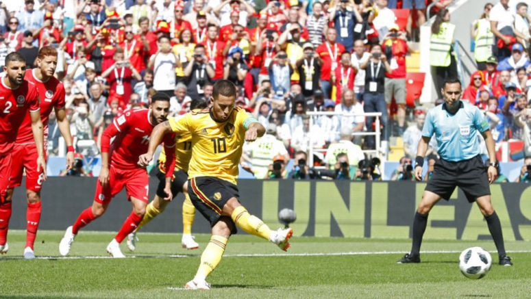 Soccer: Belgium looks best yet at World Cup in 5-2 rout of Tunisia