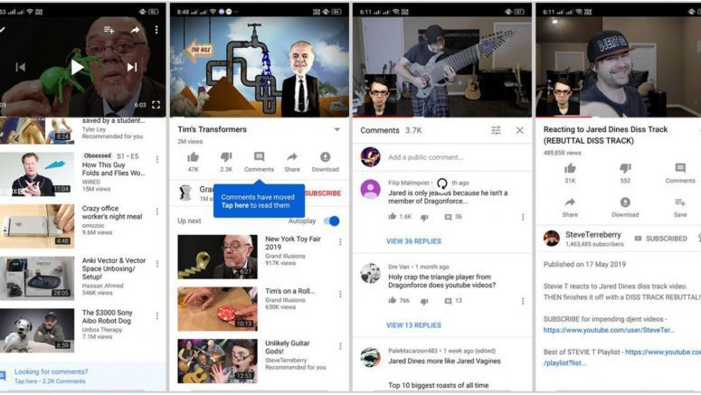 YouTube Is Testing A New Way Of Displaying Comments On Android