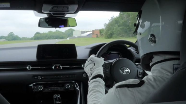 The Stig takes Toyota Supra on Top Gear track - Autoblog