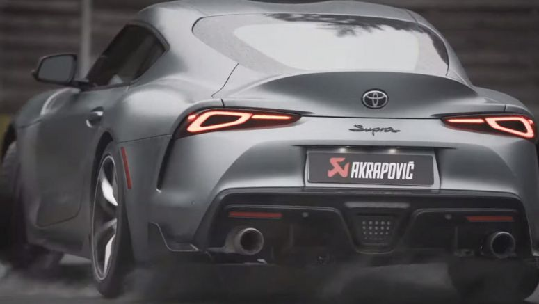 Hear Akrapovic Work Its Magic On 2020 Toyota Supra's Soundtrack