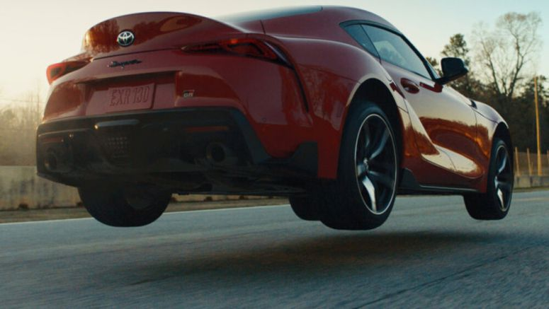 Watch the 2020 Toyota Supra get some air on a track - Autoblog