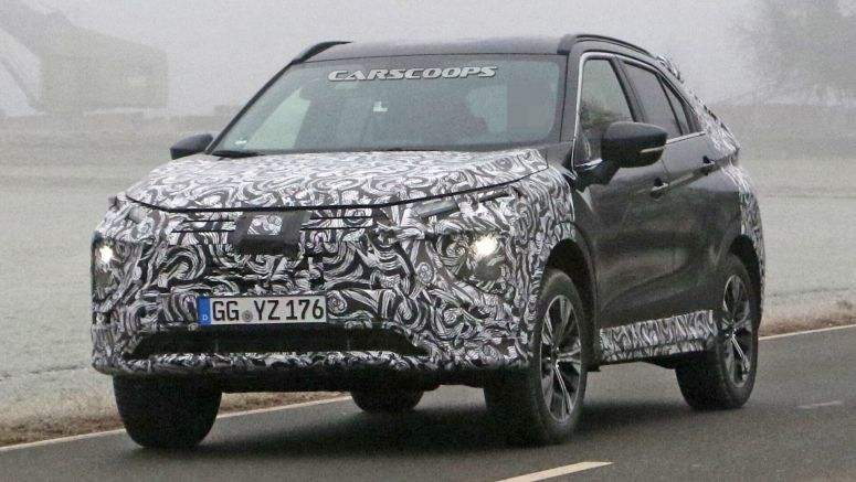 2021 Mitsubishi Eclipse Cross Makes Spy Debut With Updated Styling