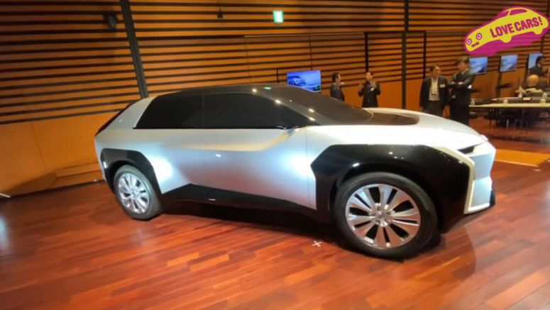 Subaru early concept electric crossover shown in walkaround video