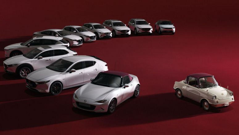 Mazda's Entire Lineup Dresses In Festive Attire For 100th Anniversary