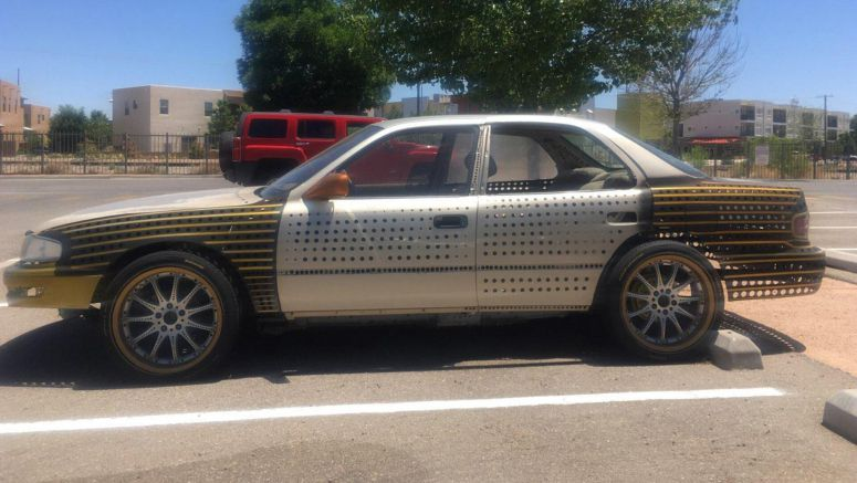 Poke This 'Swiss Cheese' Toyota Camry That's All About Weight Reduction