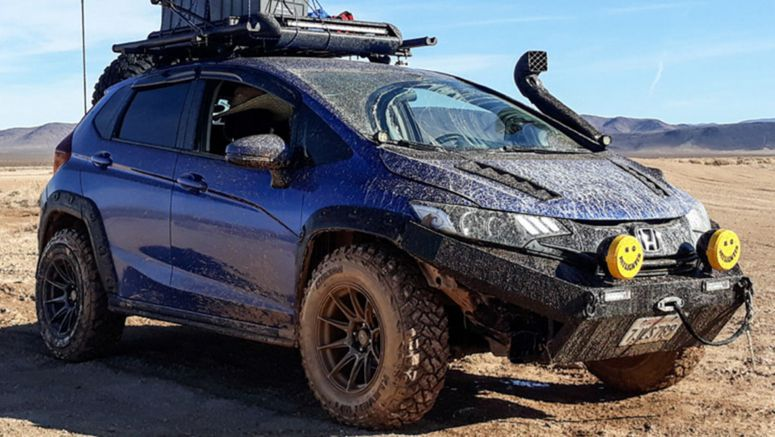 Honda Fit Off-Roader Goes For A Scary Trip Through A California Mine