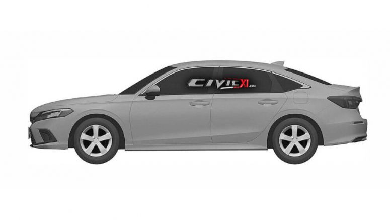 2022 Honda Civic sedan revealed in patent renderings