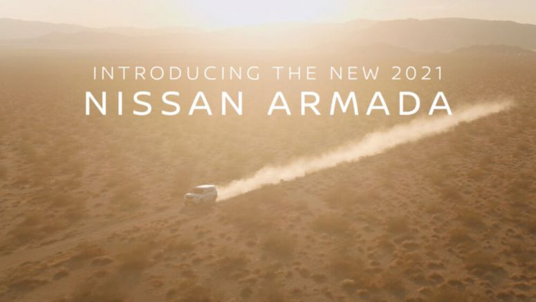 2021 Nissan Armada SUV teased in brief trailer