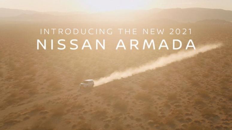 2021 Nissan Armada SUV teased in brief trailer