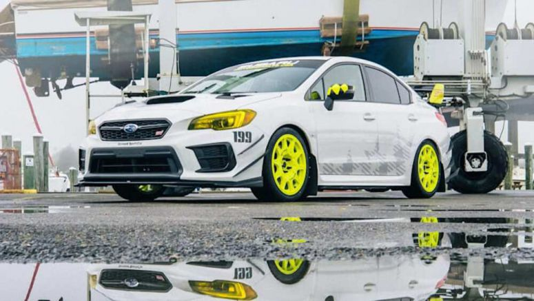Omaze is giving away a Subaru WRX STI from the latest Gymkhana video
