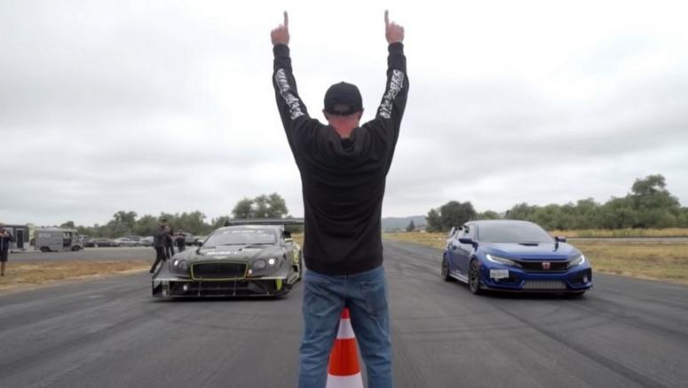 Bentley's 850 HP Pikes Peak Continental GT3 Vs. A 600 HP Honda Civic Type R Seems Like An Unfair Fight