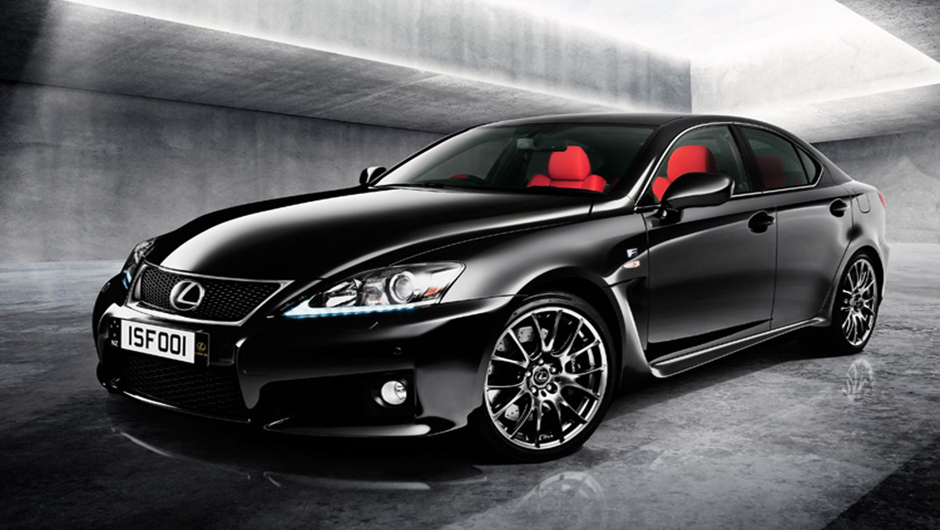 2012 lexus is f red edition