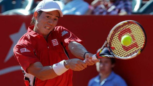 Tennis: Nishikori retires from Barcelona quarterfinal with abdominal injury