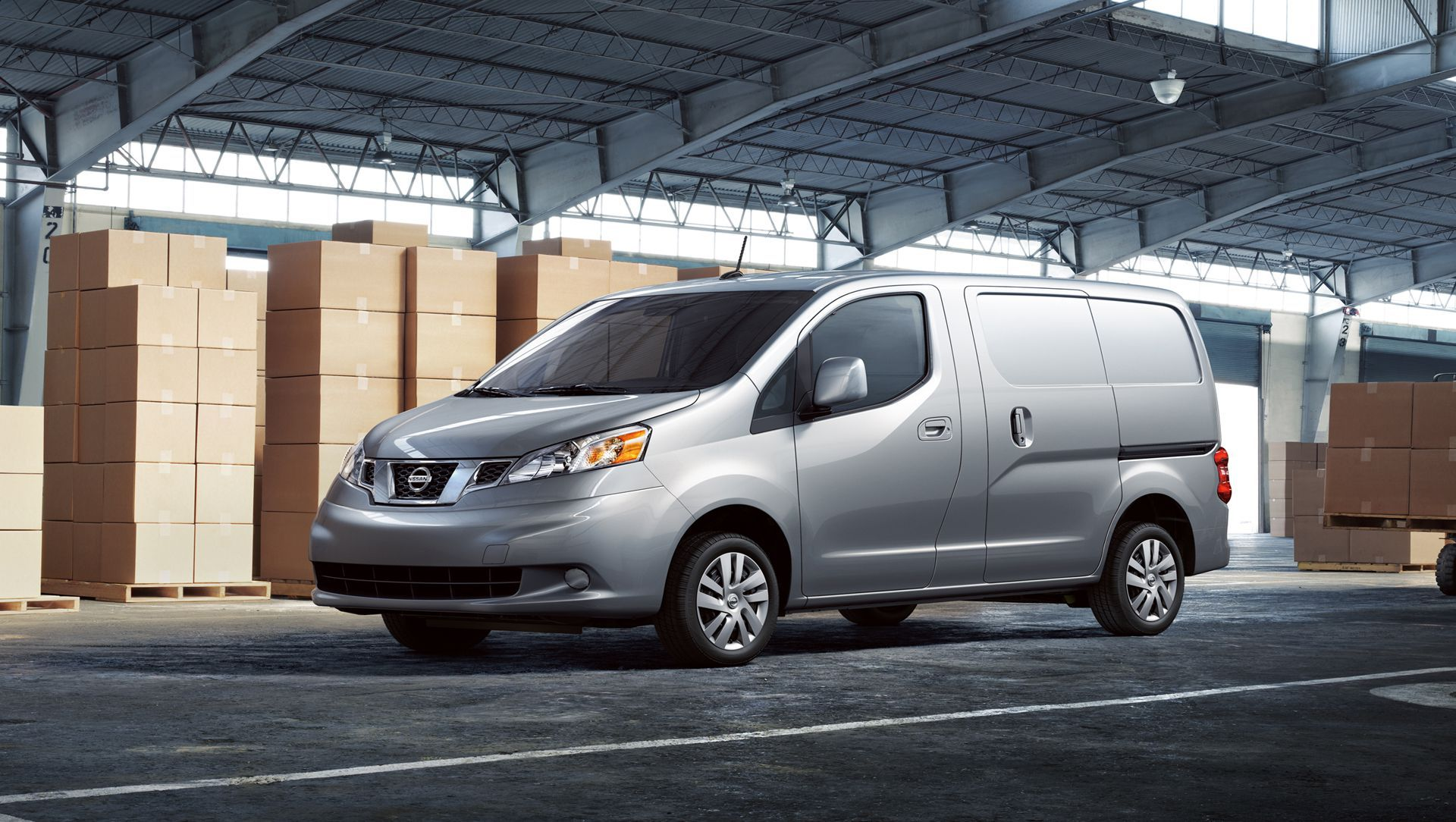 Nissan nv200 compact cargo van offers efficient packaging with a large cargo space within a small the
