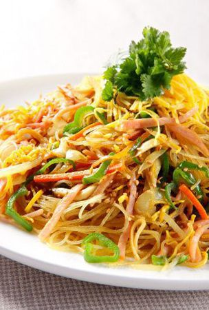 Curry flavored rice vermicelli