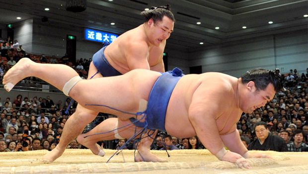 Kakuryu takes control as Hakuho pushed out on Day 13
