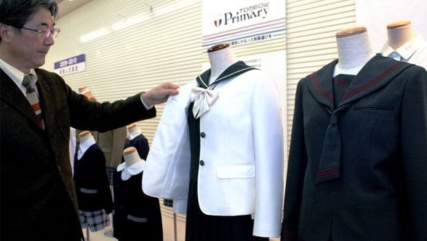 Schoolgirl sailor-style uniforms on decline