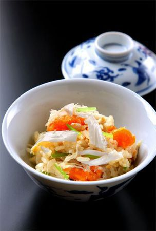 Rice with swimming crab and spring ginger