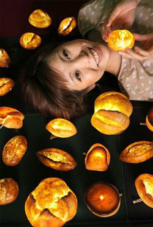 Kyoto woman turns obsession with bread into lampshades