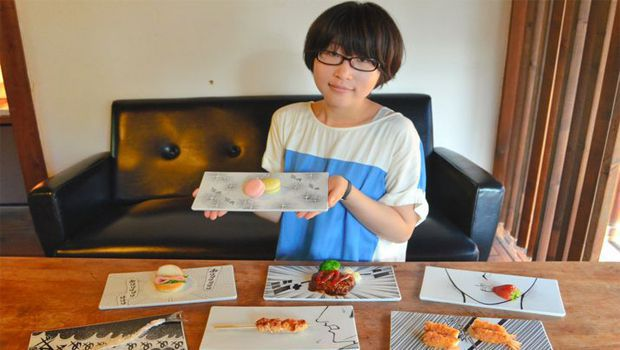 Manga-inspired plates add another dimension to food