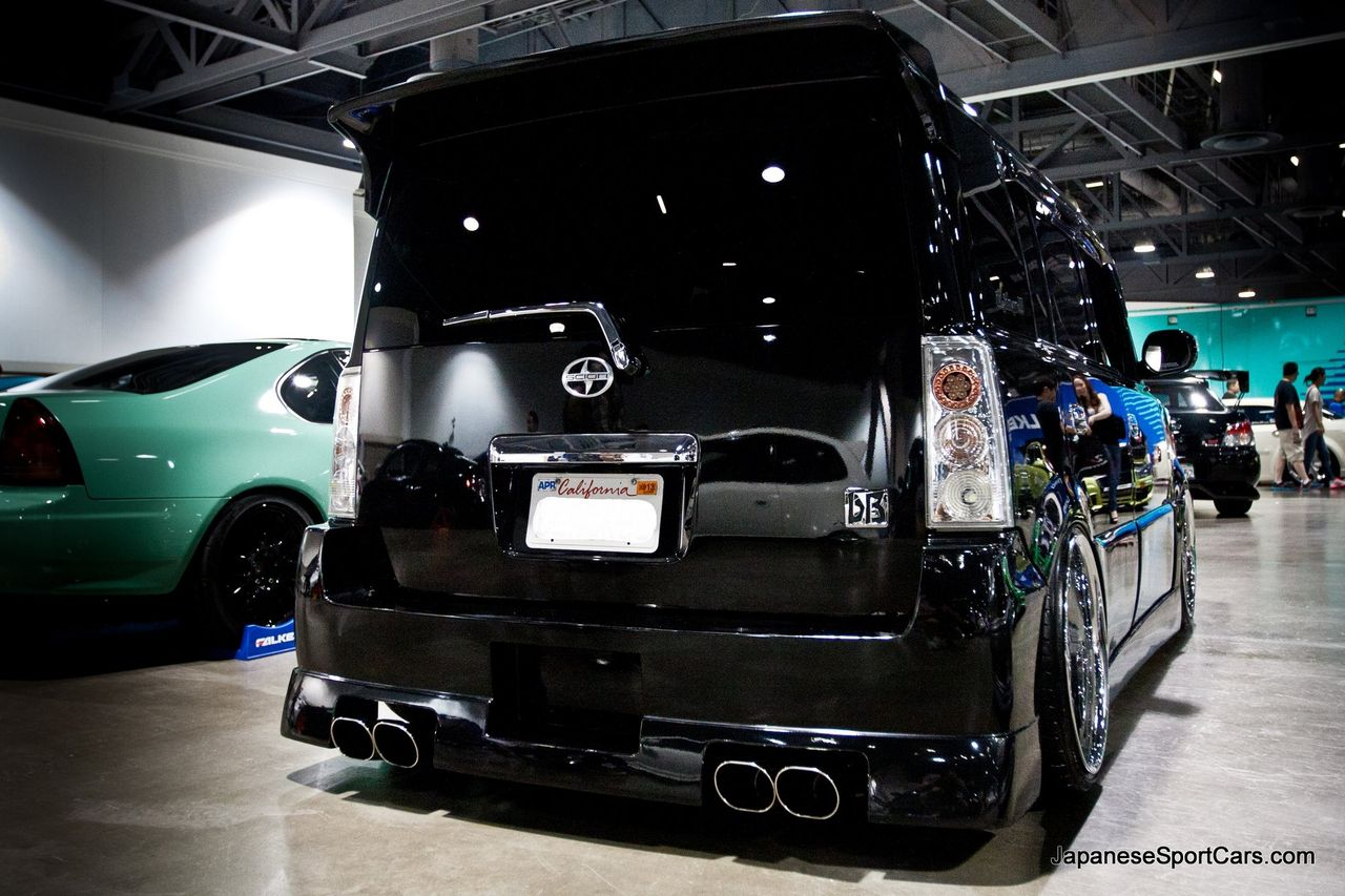 scion xb custom 2004. custom black scion xb garson geraid body kit xb 2004