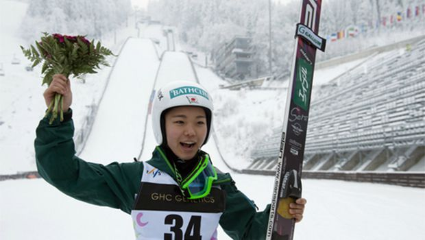 Takanashi wins women's ski jump World Cup event