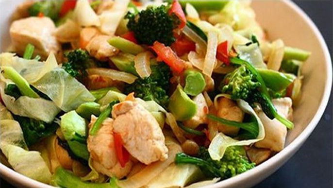 Chicken Breast Stir-fry with Vegetables