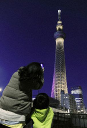 Tokyo Skytree complex attracts over 50 mil. visitors by Tuesday