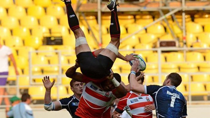 Rugby: Japan men lose 1st match in Sevens World Cup