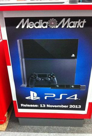 Sony Plastation 4 Ad poster displays November 13 release date