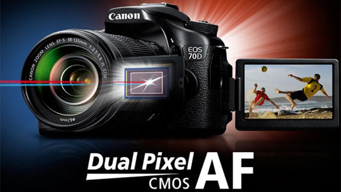 Canon develops new Dual Pixel CMOS AF technology for significantly improved autofocus performance during Live View shooting and when shooting movies