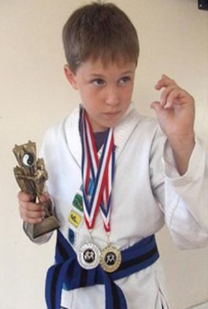 Karate Kid Sam Higgs wins Somerset competition at Crispin Community Centre