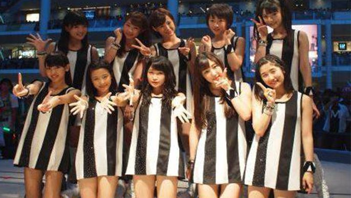 Morning Musume holds release event for 'Wagamama Ki no Mama Ai no Joke / Ai no Gundan'