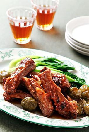Plum liquor the secret to savory spareribs