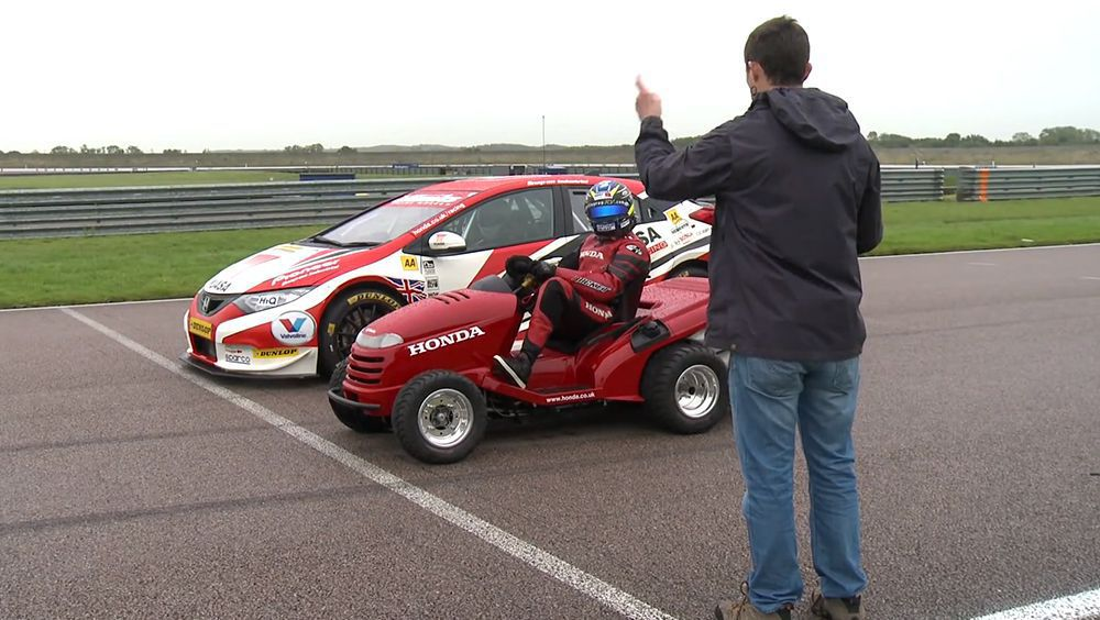 Wacky Race Features Honda Civic Btcc Racer And 130mph Mean Mower