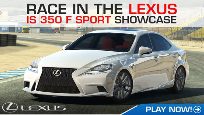 Lexus IS 350 F SPORT featured on Real Racing 3