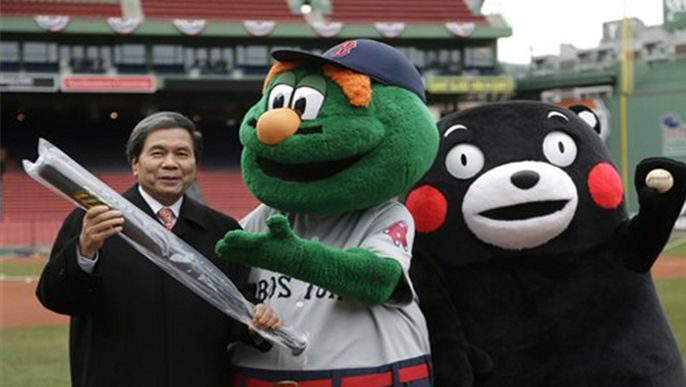 Japanese governor gives Harvard lecture on official mascot Kumamon