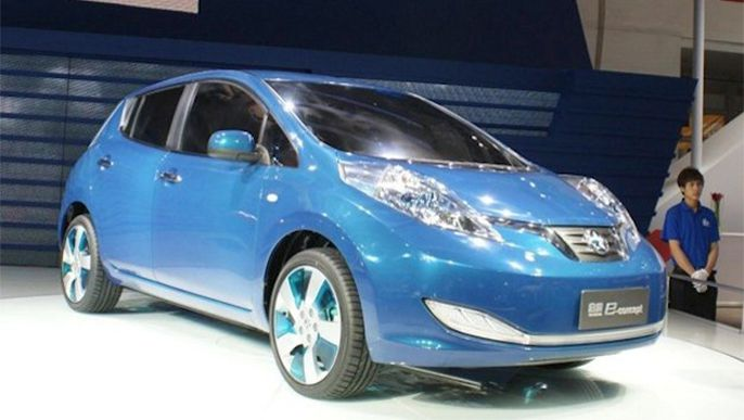 Nissan Leaf will blow into China