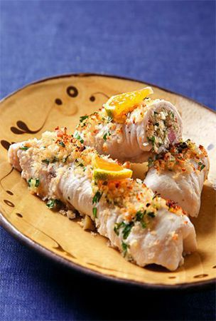 Swordfish involtini seals in flavor of savory breadcrumb filling