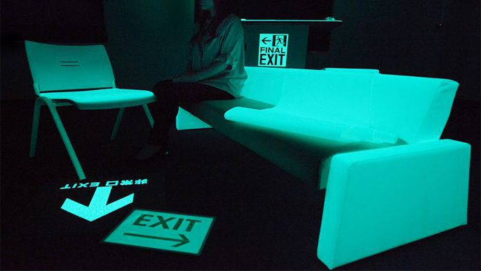 Osaka firm develops glow-in-the-dark cloth for office furniture