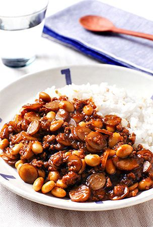 Subtly sweet and full of flavor, curry with 'gobo,' soy beans a treat