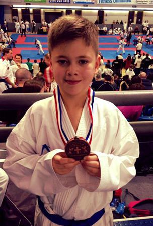 National medal for Elsenham karate kid Connor