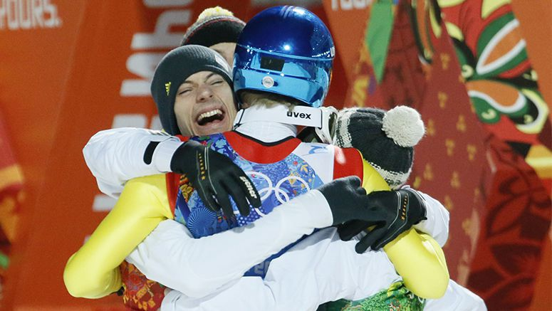 Germany wins team gold in ski jumping; Japan takes bronze