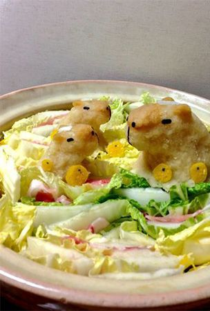Grated hot pot radish cute animal art spreads across Japan via Twitter