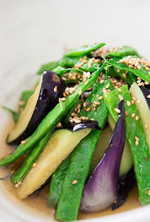 Green Beans and Eggplant Agebitashi Recipe 2014