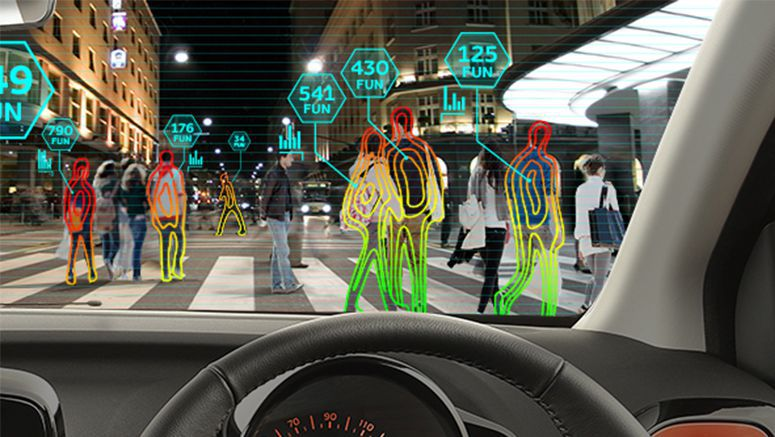 World first head-up display Fun Sensor for all-new Toyota Aygo