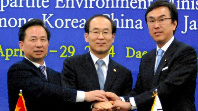 Diplomatic differences aside, Japan, S. Korea and China agree to fight pollution
