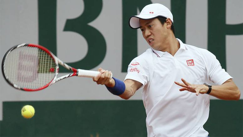 Tennis: 9th-seed Nishikori knocked out in 1st round at French Open