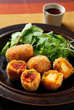 Easy squash croquette that requires no chopping or stir-frying