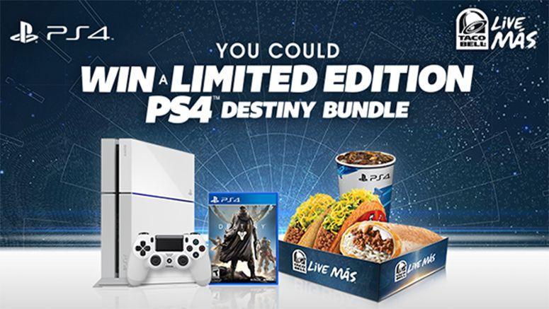 Sony : PlayStation and Taco Bell: A Chance to Win a Limited Edition PS4 Destiny Bundle